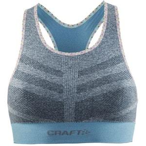 Comfort Mid Impact - Brassière de sport - gris/turquoise CRAFT