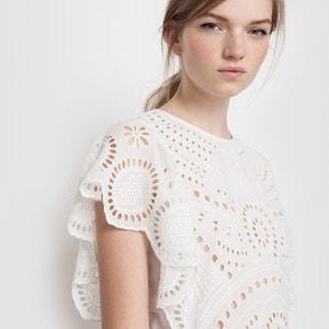 Vestido em algodão, com bordado MADEMOISELLE R