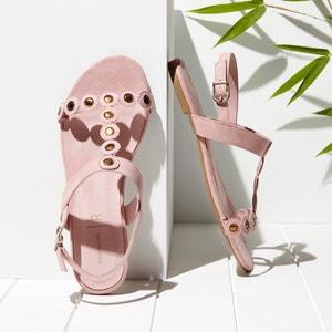 Sandálias rasas, detalhe com adorno MADEMOISELLE R
