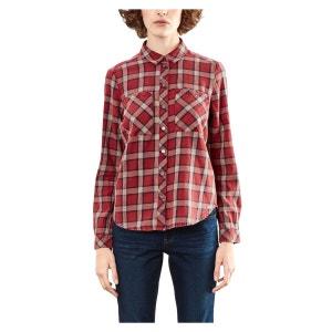 Chemise  col polo,  chemise imprimé à carreaux S OLIVER