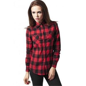 Chemise à carreaux URBAN CLASSICS Noir / Rouge  Flanelle URBAN CLASSICS