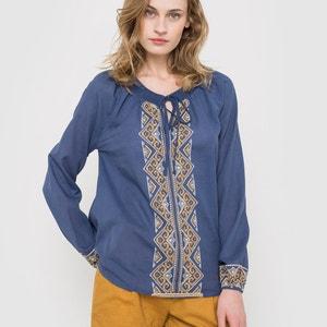 Blusa com mangas compridas, bordada R édition