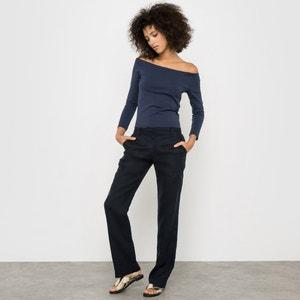 Spodnie proste, lniane R essentiel