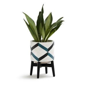 Cache-pot sur pied en céramique et bois, GRAFICO La Redoute Interieurs