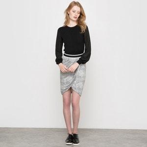 Tortoiseshell Print Wrapover Skirt R studio