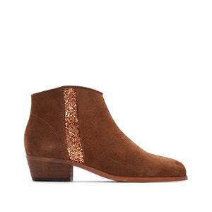 Leren boots met pailletten La Redoute Collections