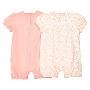 Confezione da 2 tuta-shorts Oeko Tex da 1 mese a 3 anni La Redoute Collections