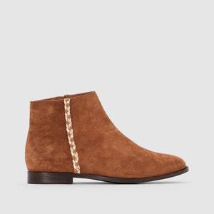 Boots cuir détail tresse R studio