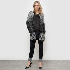 Chaqueta de punto estilo abrigo jaquard La Redoute Collections