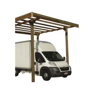 Carport base 3 x 5 - hauteur 4 m - traité autoclave HABITAT ET JARDIN