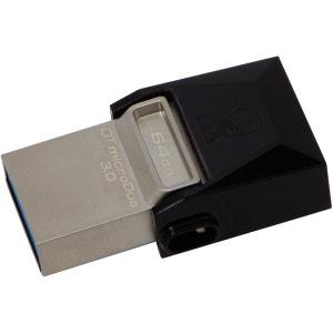 Clé USB KINGSTON 64Go OTG DataTravelerMicroDuo/MicroUSB3 KINGSTON