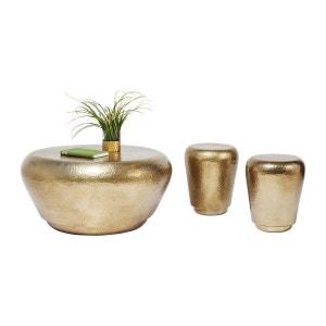 Table basse + tabourets Antico laiton set de 3 Kare Design KARE DESIGN
