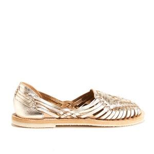 Chaussures tissées cuir de vachette PACHUCA LEON AND HARPER