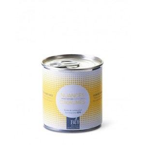 Bougie parfumée boîte de conserve jaune 35h nuances d'agrumes BOUGIES LA FRANÇAISE