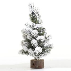Sapin de Noël déco de table Alpine - 16 x 30 cm - Vert ATMOSPHERA