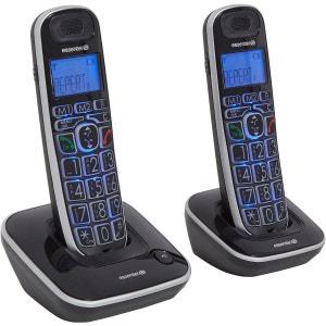 Téléphone sans fil duo ESSENTIELB CONFORT V2 10.2 Noir ESSENTIEL B