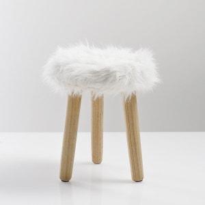 Tabouret, assise imitation fourrure Adas La Redoute Interieurs