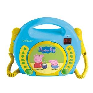 Lecteur CD karaoké avec 2 micros Peppa Pig LEXIBOOK