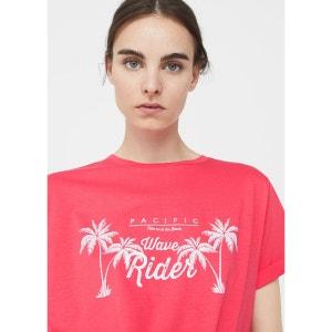 T-shirt en coton imprimé MANGO