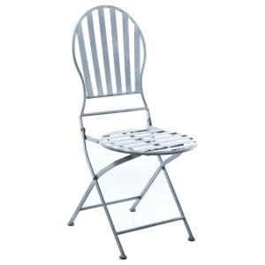 Chaise pliante en métal Niena - Gris ATMOSPHERA