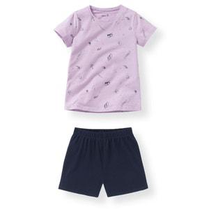 Piżama z krótkimi spodenkami, dżersejowa, 2-12 lat (dwupak) La Redoute Collections