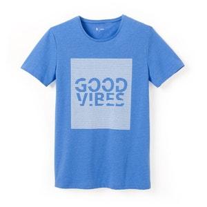 T-shirt estampada, gola redonda, puro algodão R édition