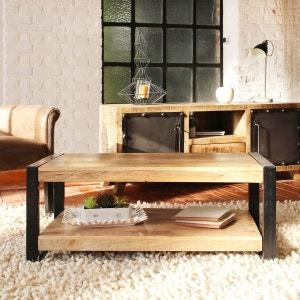 Table basse industrielle 2 plateaux petit modèle  |  MR7 MADE IN MEUBLES