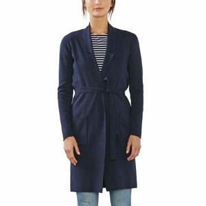 Gilet long coupe veste, ceinture taille ESPRIT