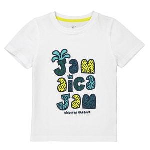 T-shirt estampada de gola redonda, 3-12 anos La Redoute Collections