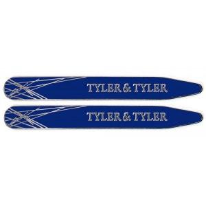 Baleines de col, Tyler & Tyler, Diffusion Collar Stiffener, Silver Navy Enamel TYLER ET TYLER