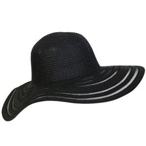 Chapeau capeline noir semi-transparente CHAPEAU-TENDANCE