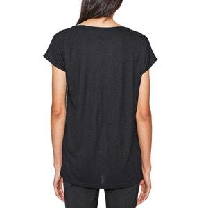 Printed Short-Sleeved Crew Neck T-Shirt ESPRIT