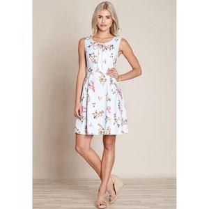 Wijduitlopende halflange jurk zonder mouwen YUMI