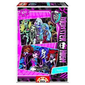 Puzzle 2 x 100 pièces : Monster High EDUCA