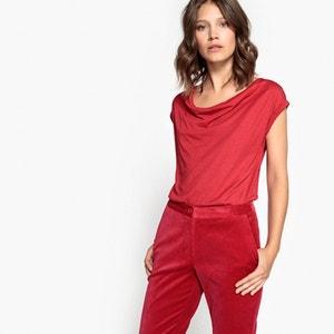 Tee shirt col bénitier en coton La Redoute Collections