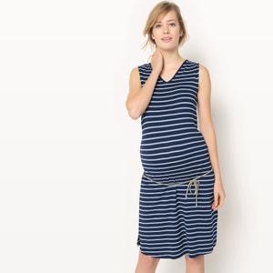 Robe à rayures de grossesse R essentiel