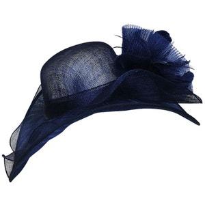 Chapeau de cérémonie bleu Mina CHAPEAU-TENDANCE