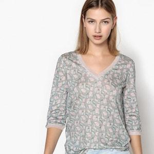 Shirt mit V-Ausschnitt, 3/4-Ärmel SUD EXPRESS