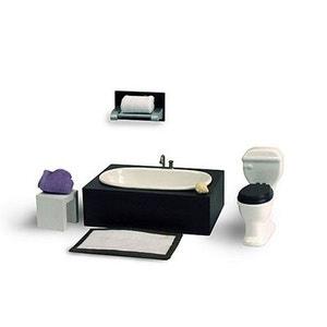 Accessoires pour maison de poupées : Mobilier et accessoires : Baignoire et toilette ARTESANIA BEATRIZ