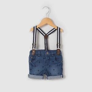 Short en jean imprimé