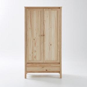 Armário 2 portas em pinho maciço em bruto Perrine La Redoute Interieurs