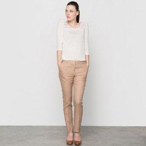 Pantalón tobillero de lino, con bolsillos italianos atelier R
