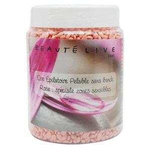 Cire épilation zones sensibles pelable, parfum rose, Beautélive BEAUTELIVE