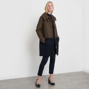 Manteau bicolore col montant La Redoute Collections
