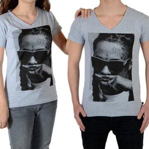 Tee Shirt Little Eleven Paris Lil SS Mixte (Garçon / Fille) Lil Wayne Gris LITTLE ELEVENPARIS