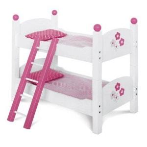 BAYER CHIC Les lits superposés pour poupées, blanc/rose vif accessoires pour poupée BAYER CHIC