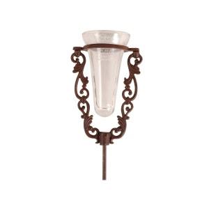 Pluviomètre en verre avec support en fonte brun antique ESSCHERT DESIGN