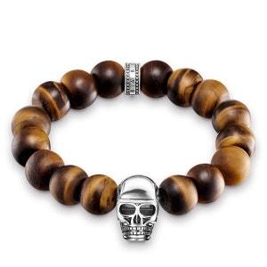 Bracelet Power Bracelet tête de mort marron THOMAS SABO
