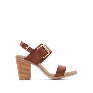 Sandały skórzane LB912 CAFENOIR