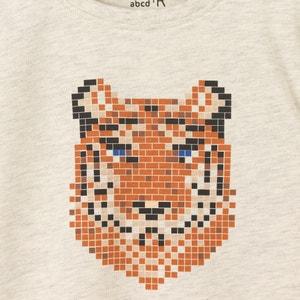 Camiseta manga larga estampado tigre 3-12 años La Redoute Collections